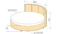 купить круглые кровати недорого в москве